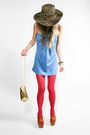 Blue-vintage-dress-pink-american-apparel-tights-jessica-simpson-shoes-vint