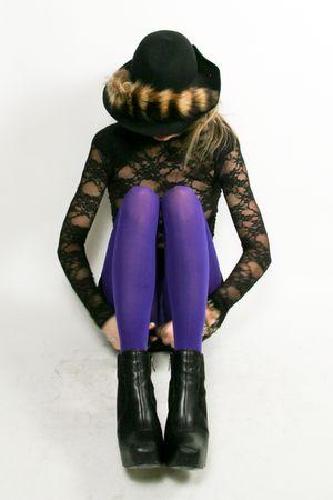 black American Apparel dress - American Apparel tights - black sam edelman boots