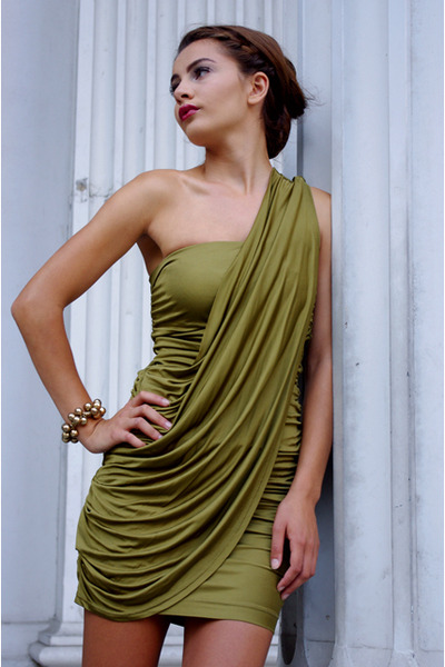 green rachel roy dress - gold Target accessories