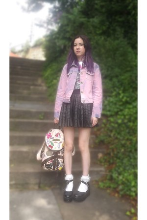 bubble gum i customised it Primark jacket - black Minkyshop shoes