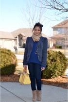 6bb5e1c7f41f63 wool coat - ankle boots - yellow bag
