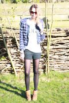 brown Timberland boots - navy Just addicted jacket - white Avelon shirt