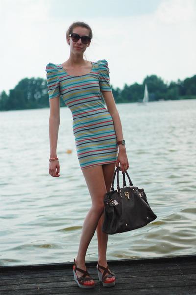 DKNY watch - Forever 21 dress - street level bag