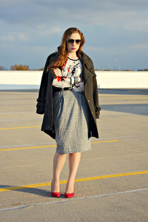 blouse - coat - skirt