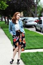 skirt - jacket - shirt