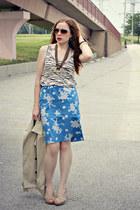 floral skirt - shirt