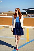 dress - blazer - heels