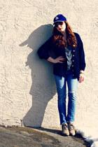 cardigan - cardigan - jeans - hat