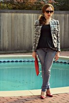 jacket - dress - jeans