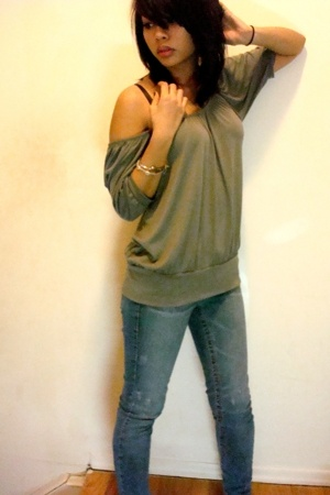 forever 21 shirt - Paris Blues jeans - bracelet