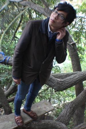 shirt - John van Dyke tie - Gap jacket - Gap blazer - Refuge jeans - Bass shoes