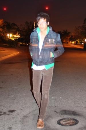 lucky jacket - American Apparel jacket - Fruit of the Loom shirt - Refuge pants