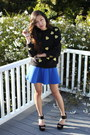 Black-forever-21-sweater-blue-choies-skirt-black-asos-heels