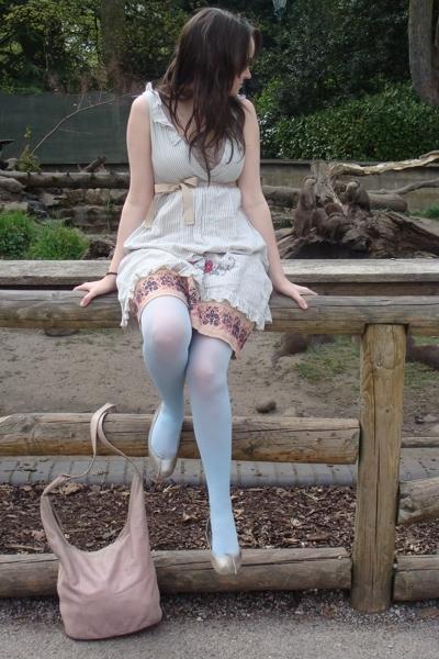 odd molly dress - asos tights - Repetto shoes - John Rocha purse - H&M top