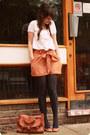 Burnt-orange-poya-see-by-chloe-bag-burnt-orange-bow-miss-selfridge-shorts