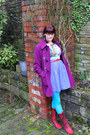 Navy-handmade-rusty-cuts-dress-ruby-red-fly-boots
