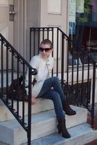 Secondhand sweater - DSW - delias jeans - Pac Sun shirt - H&M sunglasses - purse