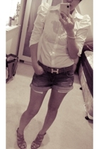 Armani Exchange shirt - Zara shorts - Peep Toe shoes