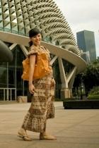 vintage dress - balenciaga accessories