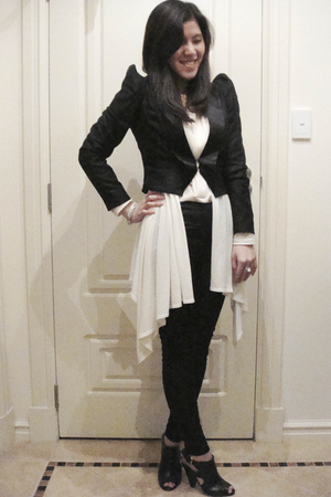 An Ode To No One blazer - Sass and Bdie leggings - Siren shoes