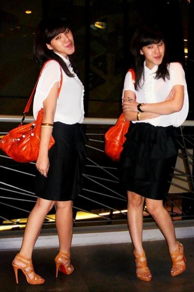 xSML skirt - balenciaga accessories - Peep Toe shoes