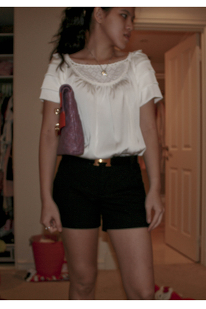 See by Chloe blouse - Zara shorts - Marc Jacobs purse