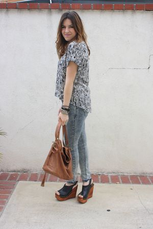 G-Stage blouse - UO jeans - Jeffrey Campbell shoes - Aldo purse