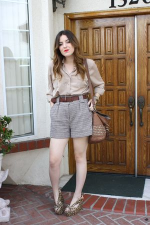 Macys blouse - Forever 21 shorts - Jeffrey Campbell shoes