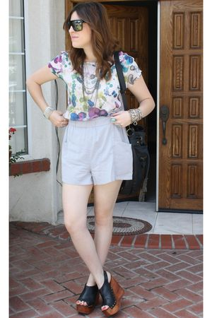 Lush blouse - Jeffrey Campbell shoes - Gucci sunglasses - f21 purse