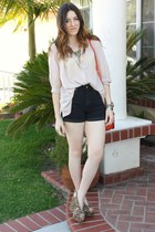 H&M shorts - H&M blouse - Jeffrey Campbell heels