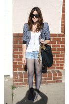 Urban Outfitters jacket - Urban Outfitters tights - Deena & Ozzy via UO shoes -