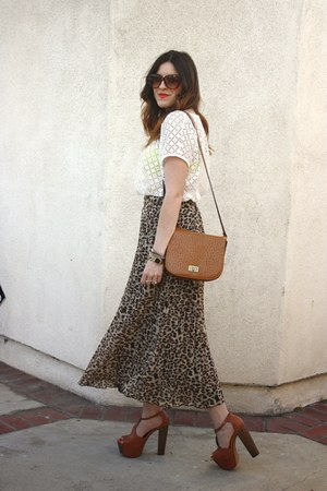 TJ Maxx blouse - Forever 21 skirt - Jessica Simpson heels