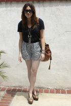 f21 necklace - mariel wedge Jeffrey Campbell shoes - Aldo purse