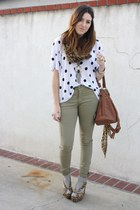 H&M top - H&M pants - Jeffrey Campbell