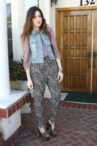hinge vest - H&M pants - Jessica Simpson heels