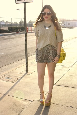 Shop La Catrina necklace - Urban Outfitters shorts