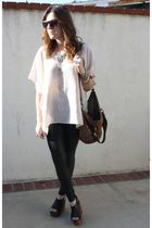 Guess leggings - Jeffrey Campbell shoes - Steven by Steve Madden purse - Spitfir