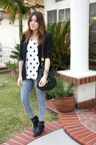 franco sarto boots - Urban Outfitters jeans - H&M t-shirt
