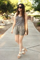 Report Signature shoes - Urban Outfitters shorts - American Apparel blouse