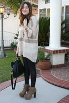 H&M sweater - Guess leggings - Jeffrey Campbell shoes