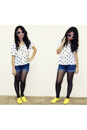 yellow oxfords Shoeology shoes - white cropped from bangkok shirt - bubble gum R