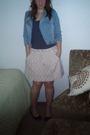 Wet Seal jacket - Forever 21 shirt - J Crew skirt