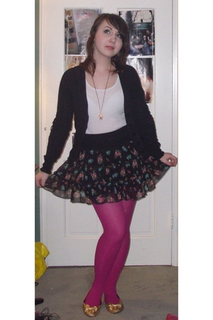 H&M sweater - Target - H&M skirt - Target stockings - shoes - vintage necklace