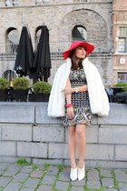 Forever 21 coat - new look boots - Dolce & Gabbana dress