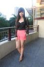 Peep-toe-filgiarina-shoes-high-waisted-landmark-shorts-lace-beaded-oasap-top