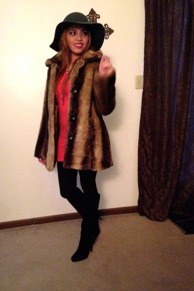 brown fur Marc by Marc Jacobs coat