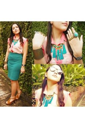 Forever 21 skirt - sheer Splatt blouse