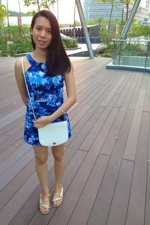 blue FaireBelle romper - white dior bag
