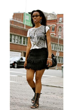 fringed Zara skirt