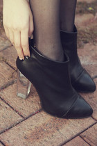 RUTA platform lucited heel ankle booties